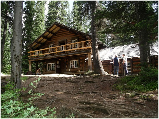 Twin Falls Tea House is located in the Yoho Valley