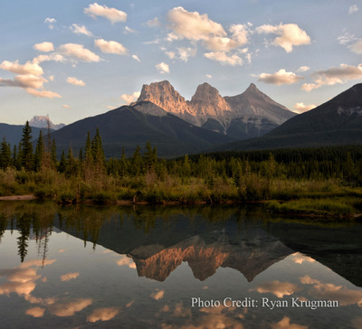 Three Sisters Mountain at sunset - PC Ryan Krugman